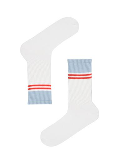 Penti Beyaz Erkek Cool Soket Çorap Beyaz